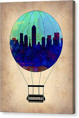 Indianapolis Air Balloon Canvas Print by Naxart Studio