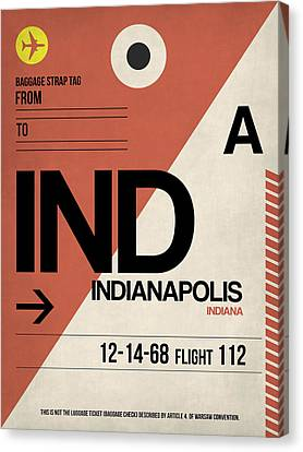 Indianapolis Airport Poster 1 Canvas Print by Naxart Studio