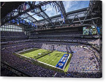 Indianapolis Colts 3 Canvas Print by David Haskett