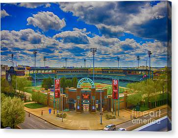Indianapolis Indians Victory Field Canvas Print by David Haskett