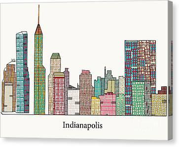 Indianapolis Skyline Canvas Print by Bri B