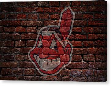 Indians Baseball Graffiti On Brick  Canvas Print by Movie Poster Prints