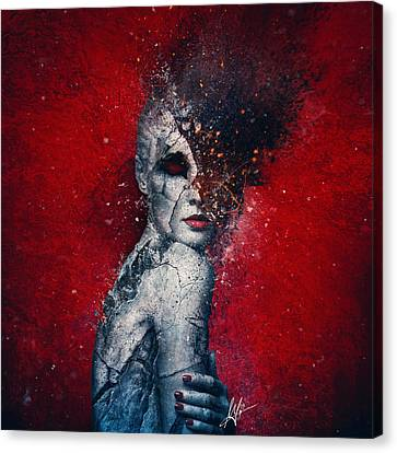 Textures Canvas Print featuring the digital art Indifference by Mario Sanchez Nevado