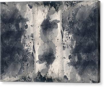 Indigo Clouds 3 Canvas Print by Carol Leigh