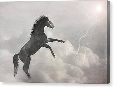 Indigo Lightning Canvas Print by Pamela Hagedoorn