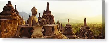Indonesia, Java, Borobudur Temple Canvas Print by Panoramic Images