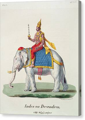 Indra Or Devendra, From Linde Canvas Print by French School