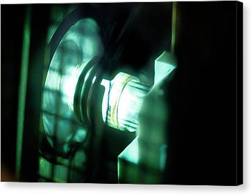 Inductively Coupled Plasma Lamp Canvas Print by Crown Copyright/health & Safety Laboratory Science Photo Library