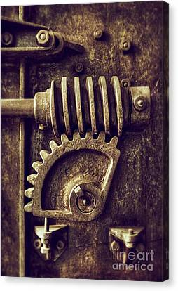 Industrial Sprockets Canvas Print by Carlos Caetano