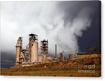 Industrial Storm Canvas Print by James Brunker