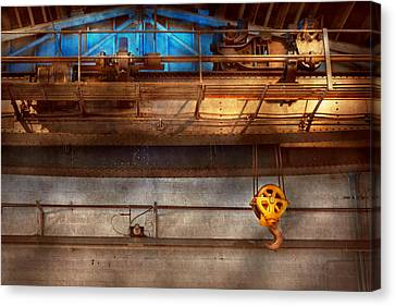 Industrial - The Gantry Crane Canvas Print by Mike Savad
