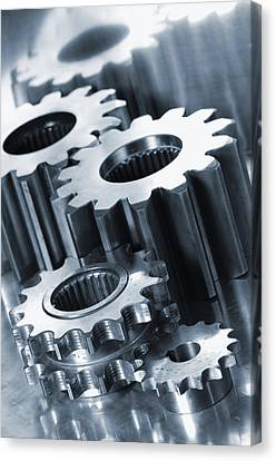 Industry Engineering Gears And Cogs Canvas Print by Christian Lagereek