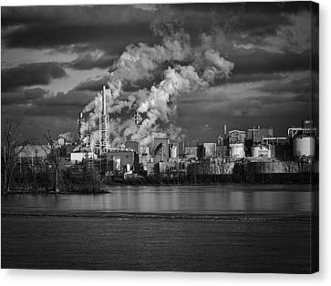 Industry In Black And White 1 Canvas Print by Thomas Young