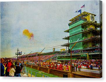 Indy 500 May 2013 Race Day Start Balloons Canvas Print by David Haskett