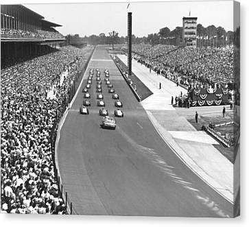Indy 500 Parade Lap Canvas Print by Underwood Archives