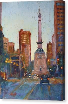 Indy Circle- Twilight Canvas Print by Donna Shortt