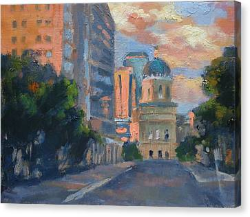 Indy Close Of The Day Canvas Print by Donna Shortt