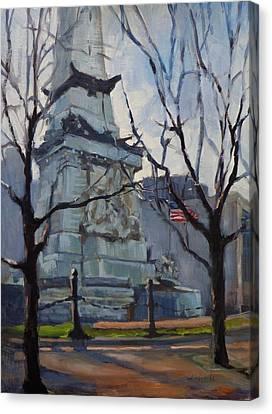 Indy Monumental Canvas Print by Donna Shortt