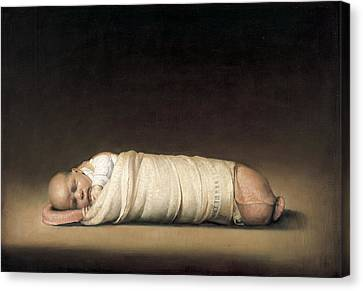 Infant Canvas Print by Odd Nerdrum