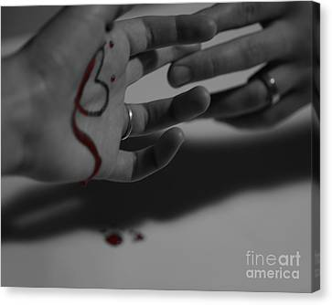 infidelity II Canvas Print by Andrea Aycock