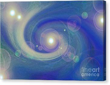 Infinity Blue Canvas Print by First Star Art