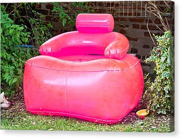 Inflatable Chair Canvas Print by Tom Gowanlock