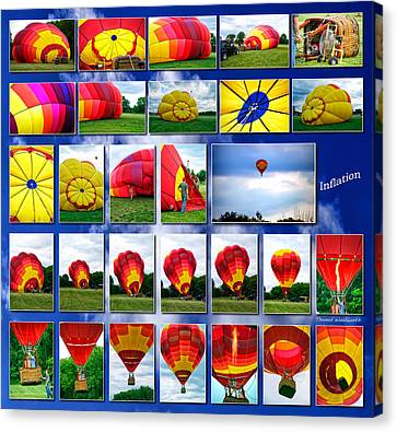 Inflation Hot Air Balloon Canvas Print by Thomas Woolworth