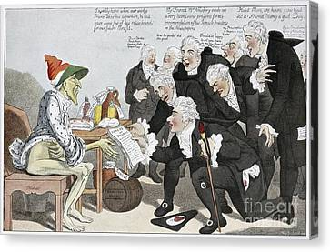 Influenza Epidemic, Satirical Artwork Canvas Print by Spl