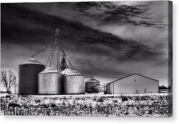 Infrared Winter Farm Canvas Print by Dan Sproul