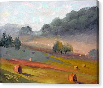 Ingram Haybales Canvas Print by Tommy Thompson