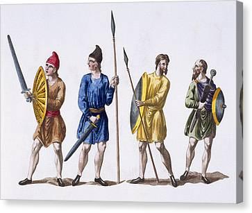Inhabitants Of Britain Canvas Print by English School