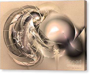Initium - Abstract Art Canvas Print by Sipo Liimatainen