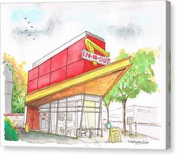 In'n Out Burger In San Francisco - Calfornia Canvas Print by Carlos G Groppa