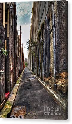 Inner City Lane 2 Canvas Print by Kaye Menner