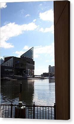 Inner Harbor At Baltimore Md - 12125 Canvas Print by DC Photographer