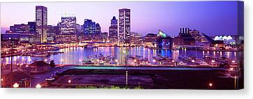 Inner Harbor, Baltimore, Maryland, Usa Canvas Print by Panoramic Images