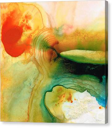 Inner Strength - Abstract Painting By Sharon Cummings Canvas Print by Sharon Cummings