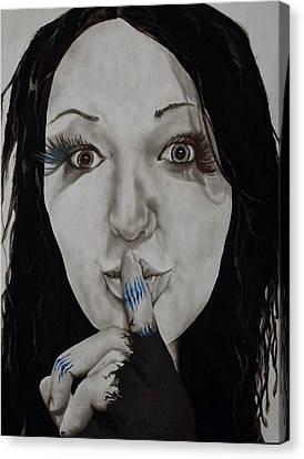 Inner Struggle Canvas Print by Corina Bishop