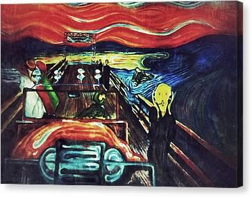 Insane Scream D1 Canvas Print by Sumit Jain