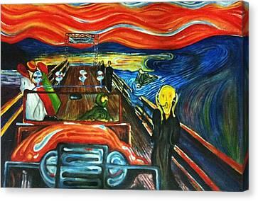 Insane Scream Canvas Print by Sumit Jain