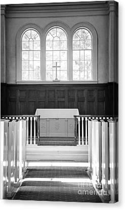 Martha-mary Chapel Sudbury Ma Canvas Print by Edward Fielding