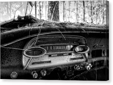 Inside A Comet In Black And White Canvas Print by Greg Mimbs