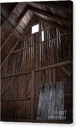 Inside An Old Barn Canvas Print by Edward Fielding