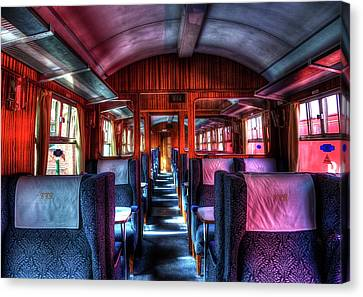 Inside An Old Train Canvas Print by Svetlana Sewell