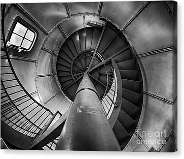Inside Edgartown Lighthouse 1 Canvas Print by Mark Miller