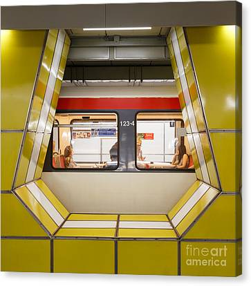 Inside Jungfernstieg Subway Station Canvas Print by Jannis Werner
