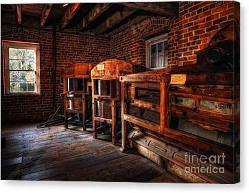 Inside Kerr Mill I - North Carolina Canvas Print by Dan Carmichael
