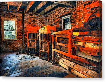 Inside Kerr Mill II - North Carolina Canvas Print by Dan Carmichael