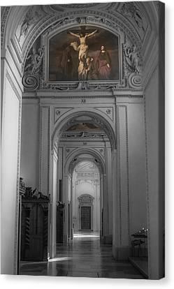 Inside Salzburg Cathedral Canvas Print by Chris Fletcher