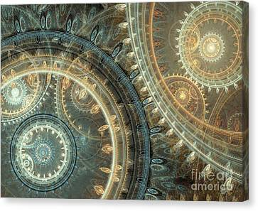 Inside The Clock Canvas Print by Martin Capek